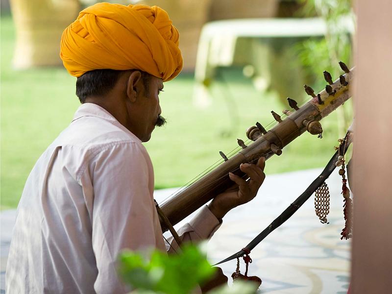 traditional music at resort